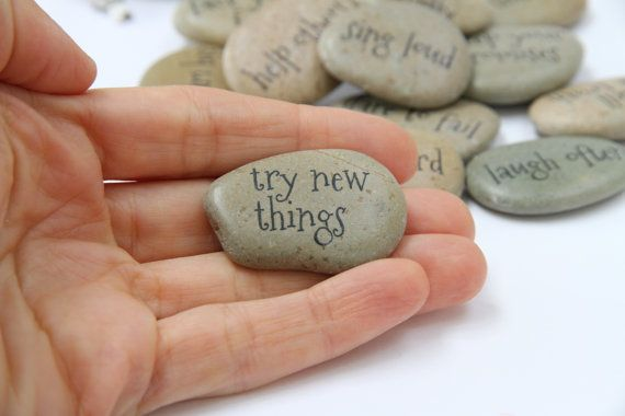 MESSAGE STONES Motivational Affirmative Stones, Keepsake Gift, Graduation Gift, Advent Calendar Filler, Stocking Filler, Wedding Favours