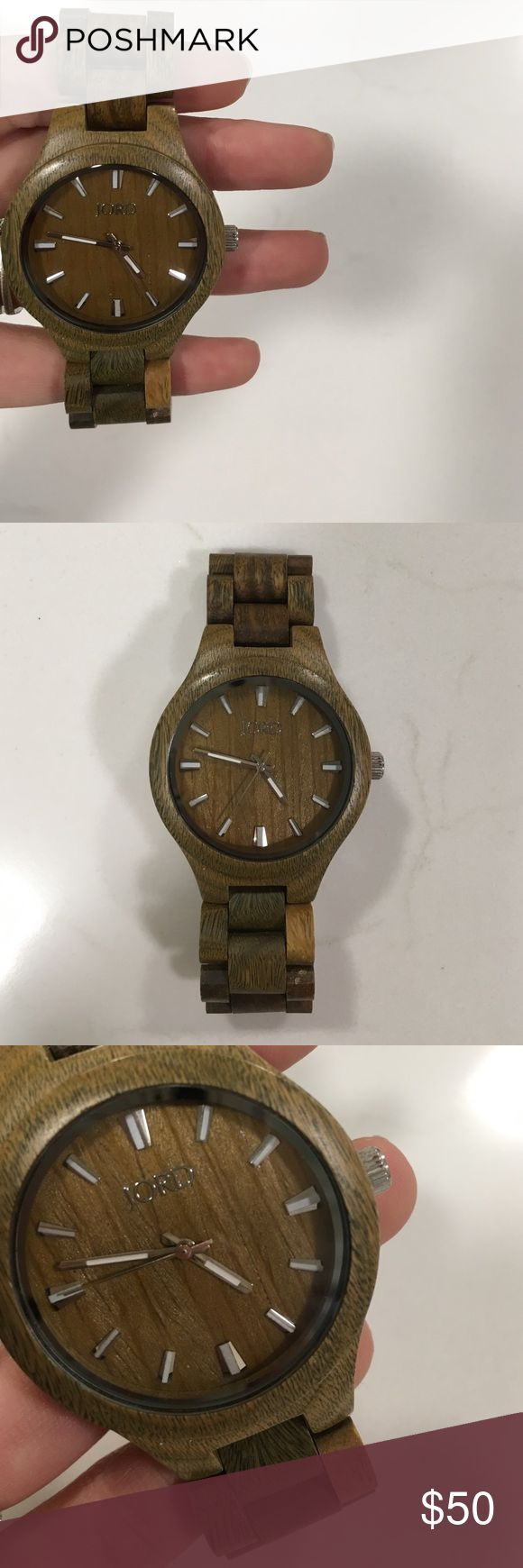 Jord Wood Watch Unique wood watch by Jord Wood Watches. Never worn, great condition Jewelry