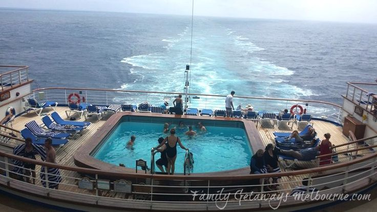 Enjoying the Terrace Pool at the rear of the Golden Princess Cruise Ship on the way to New Zealand 2016