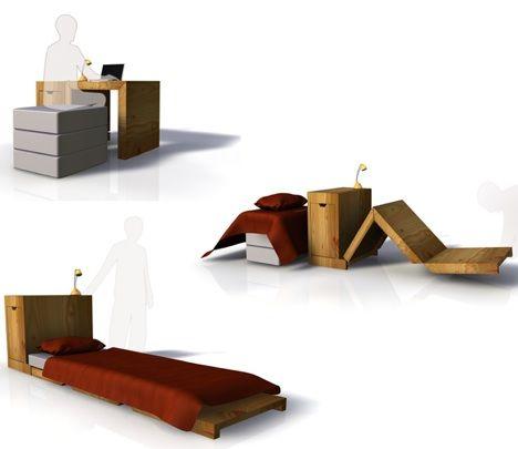 Transformer Furniture: Desk Becomes Bed, Sort Of : TreeHugger