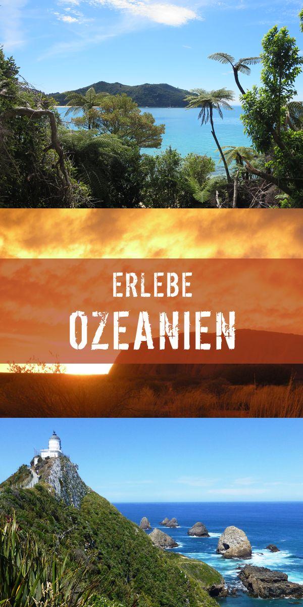 """Mit www.erlebe-australien.de und www.erlebe-neuseeland.de könnt ihr die schönsten Orte in Ozeaniens bereisen und besonderes Erleben. Entspannen in der Südsee? Tauchen im Great Barrier Reef? Die Drehorte der """"Herr der Ringe"""" sehen? Alles kein Problem mit erlebe Fernreisen! #erlebeFernreisen"""