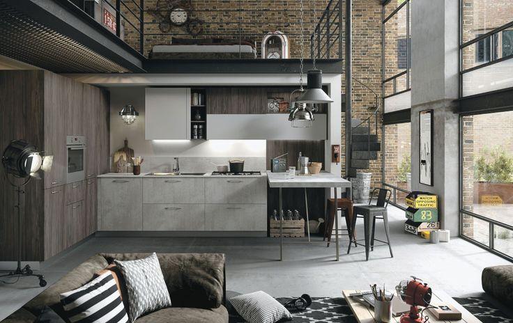 Wat een toffe keuken is dit zeg! Snaidero heeft de industriële stijl helemaal begrepen. We vinden zelf de kleur van de grijze lades heel erg stoer. Ben je op zoek naar een stoere, industriële keuken met karakter? Dan is dit model een absolute aanrader.