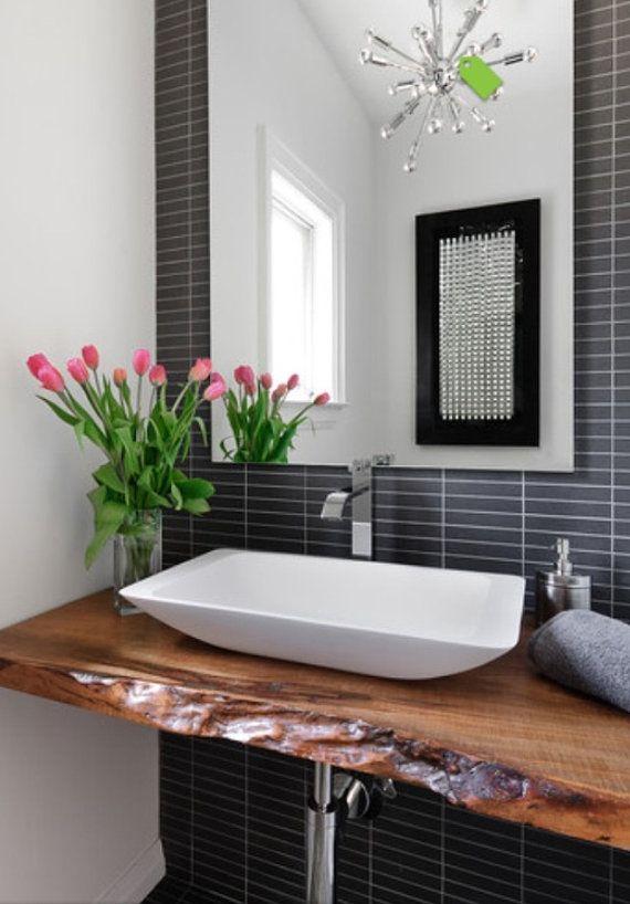 Collingwood Live Edge Vanity Bathroom Counter by TreeGreenTeam