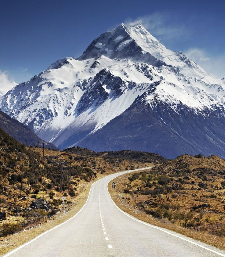 'The approach to Aoraki Mount Cook, New Zealand's highest mountain and part of the Southern Alps range, is one of the most spectacular drives in New Zealand - and that's saying a lot'. Read more in 'A Return to Middle Earth', Lonely Planet Traveller, January 2013    Photo by Matt Munro http://www.lonelyplanet.com/magazine
