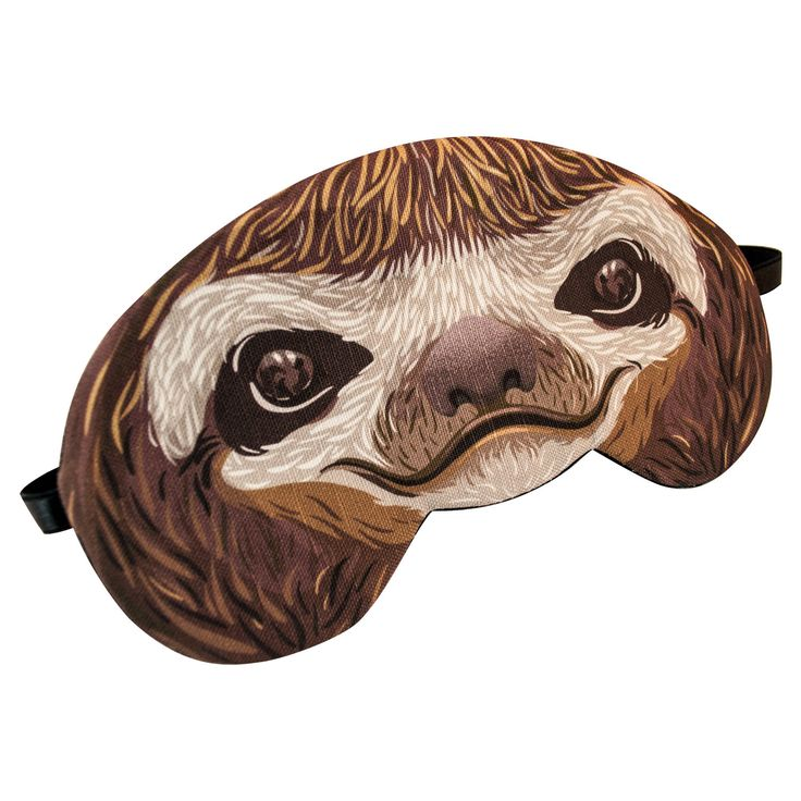 Sloth Sleep Mask by appendageaccessories on Etsy https://www.etsy.com/listing/159203702/sloth-sleep-mask
