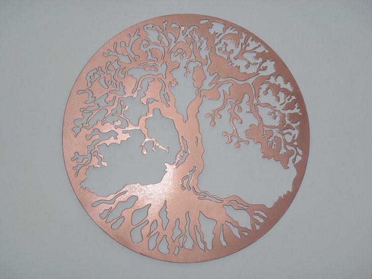 Tree Of Life, LARGE Wall decor, Metal Art - Copper look. $37.00, via Etsy.