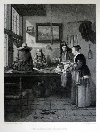 de Kleermakers Werkplaats | Steel Engraving / Stahlstich ,Size Picture  : 16 x 22 cm   Year +1850| eBay