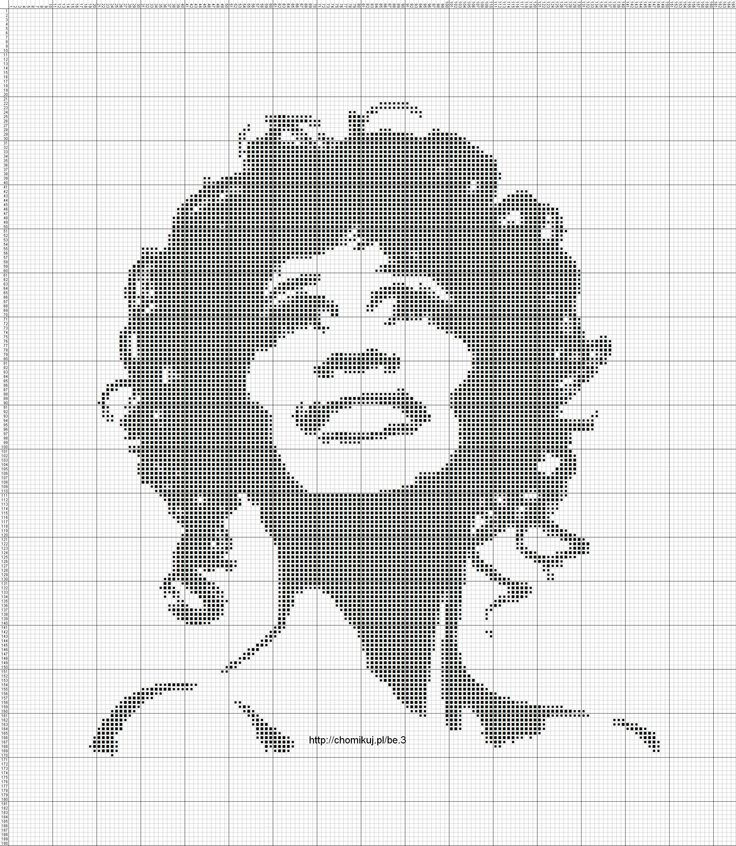 Whitney Houston x-stitch