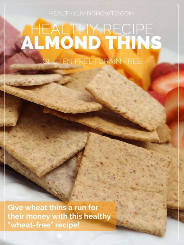 Healthy Recipe: Almond Thins | healthylivinghowto.com
