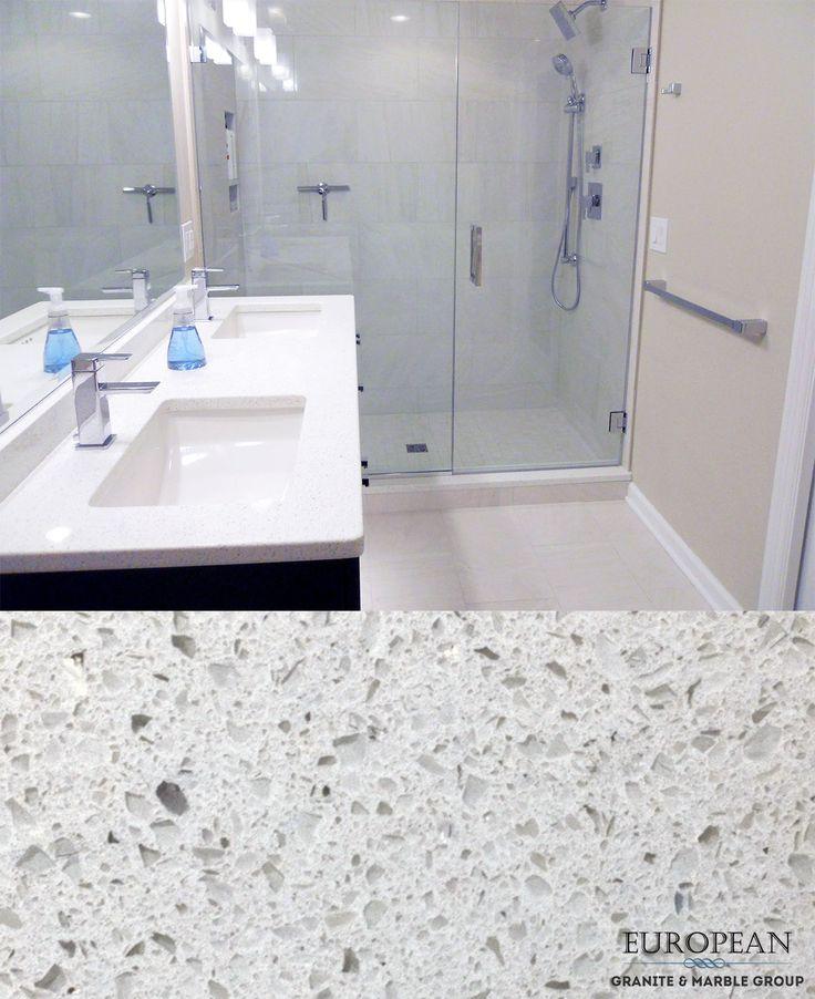This Sparkling White Quartz Countertop Is A Cool White