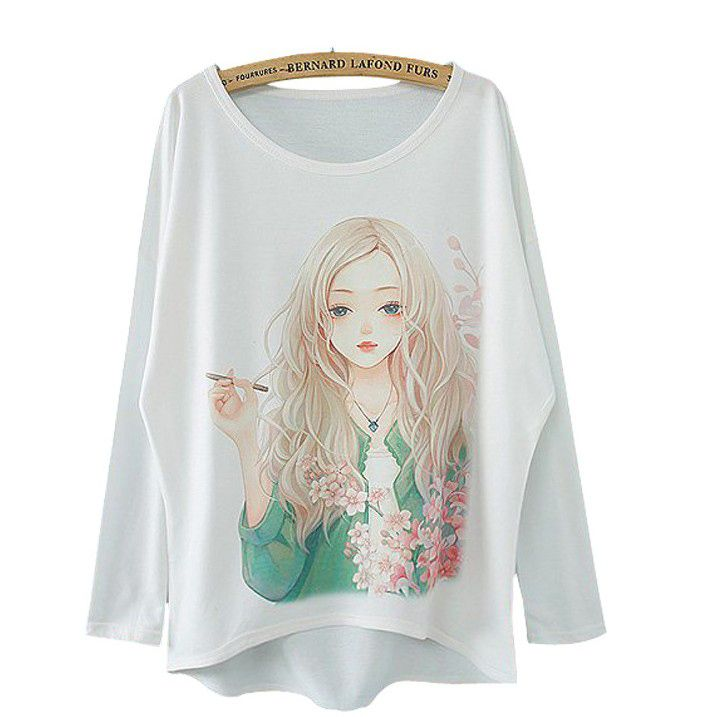 Nice Cotton Girl Print Blouse http://www.lovelyshoes.net/goods.php?id=103072