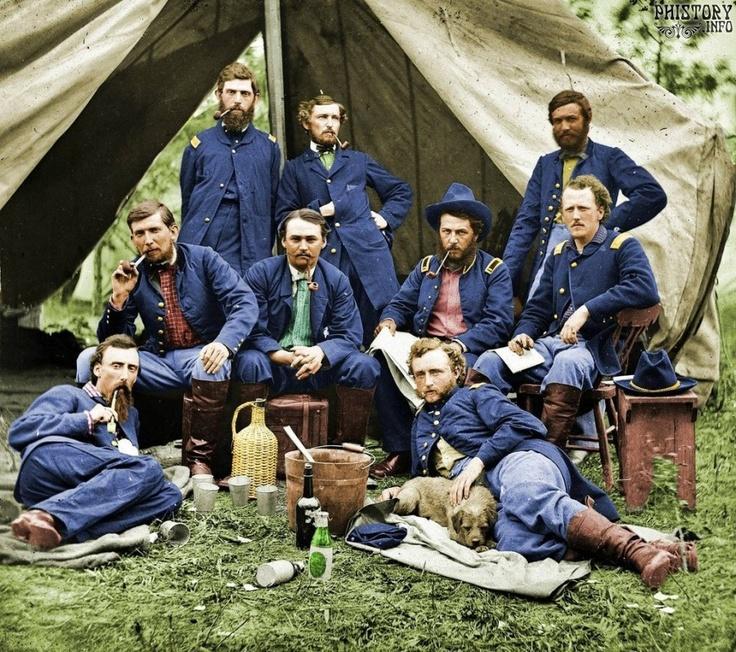 Раскрашенные фотографии времен Гражданской войны. США. 1861-1865 года