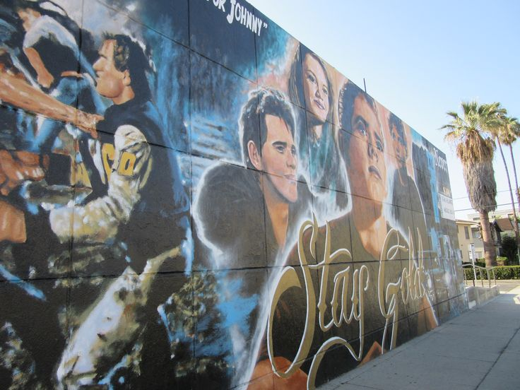 Another angle of the Outsiders mural in Sherman Oaks, CA.
