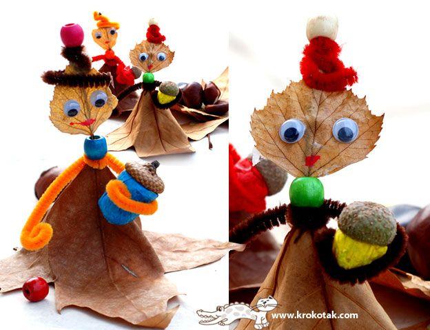 занимания от есенни листа за деца  Spelen met blaadjes via kpokotak