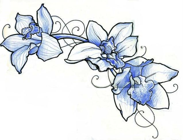 Orchid Flower Tattoos Design