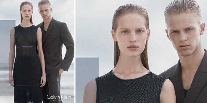 La nuova #adv di Calvin Klein Collection è stata scattata da David Sims in California e vede protagonisti i modelli Vanessa Axente e Clark Bockelman. http://www.sfilate.it/240563/calvin-klein-collection-sceglie-jolla-california-per-le-immagini-della-nuova-adv
