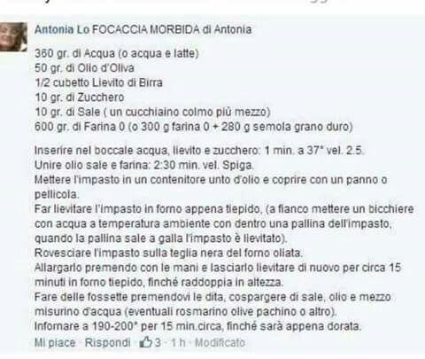 Focaccia di Antonia