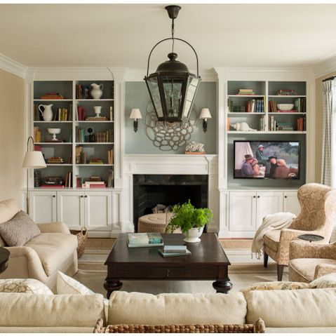 Fireplace With Bookshelves Design Ideas, Pictures, Remodel, and Decor - page 5