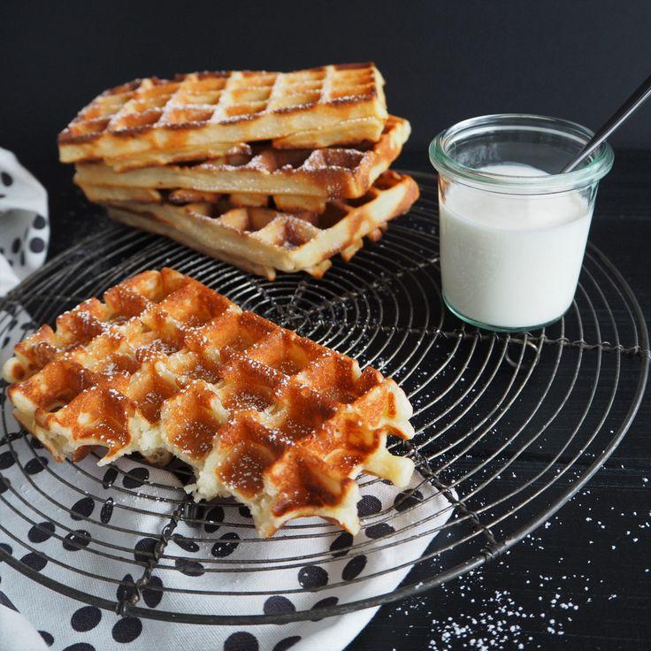 Belgische Joghurt-Waffeln