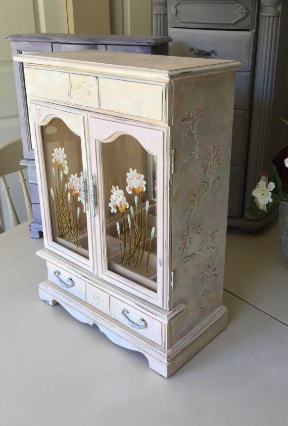 Vintage Painted Armoire // Shabby Chic by ByeByBirdieDesigns