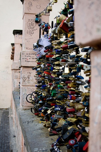 Love Lock Bridge. I missed this in the scary city of prague.