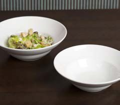 Delicious Chicken Cesar Salad Served in a Royal Porcelain Titan Deep Pasta Bowl