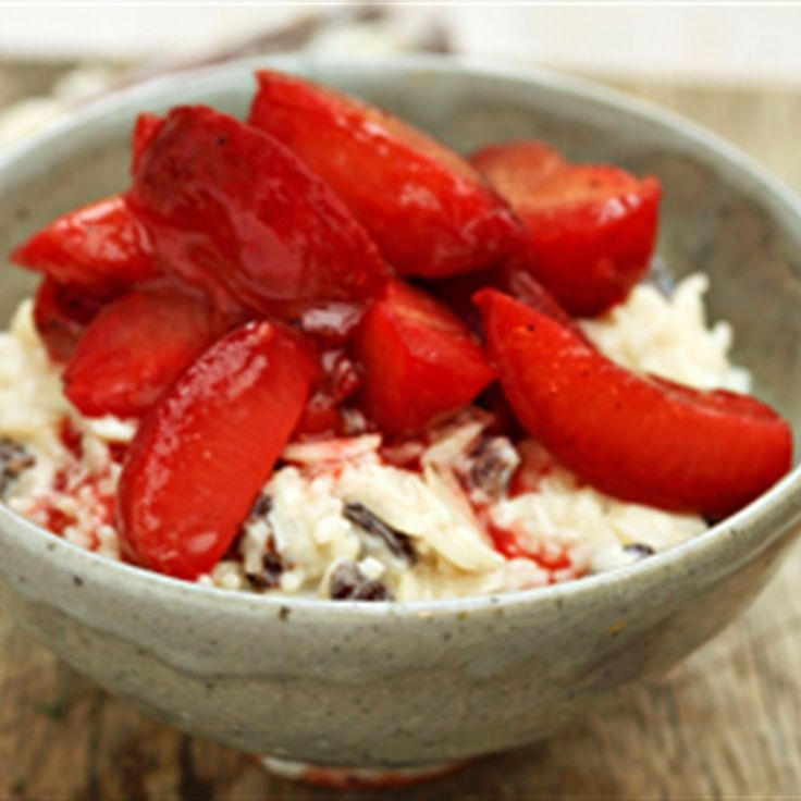 Try this Cardamom rice pudding with spiced plums recipe by Chef Sophie Dahl. This recipe is from the show The Delicious Miss Dahl.