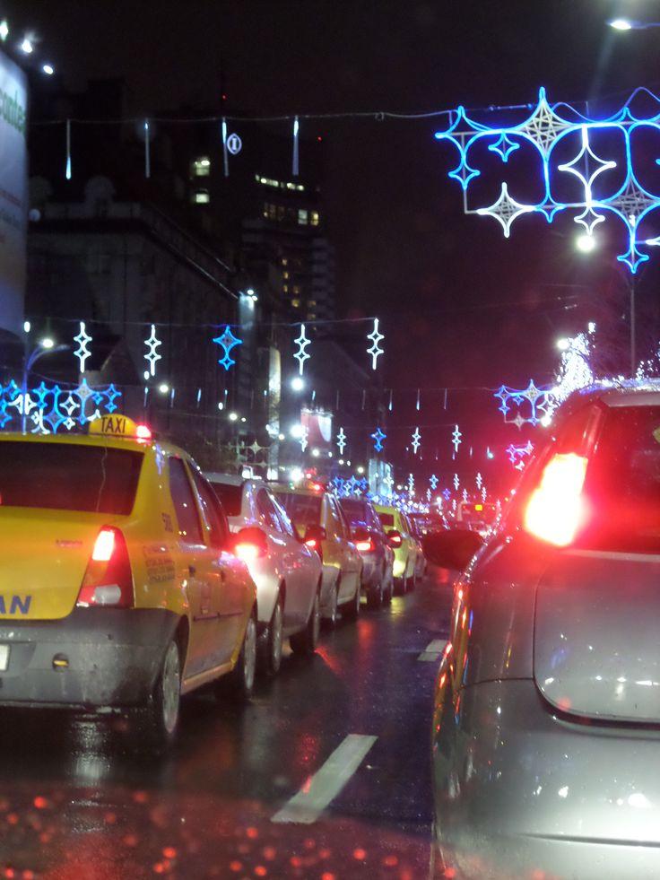 #Romania #Bucharest #Winter #December #Christmas is coming #City #Lights