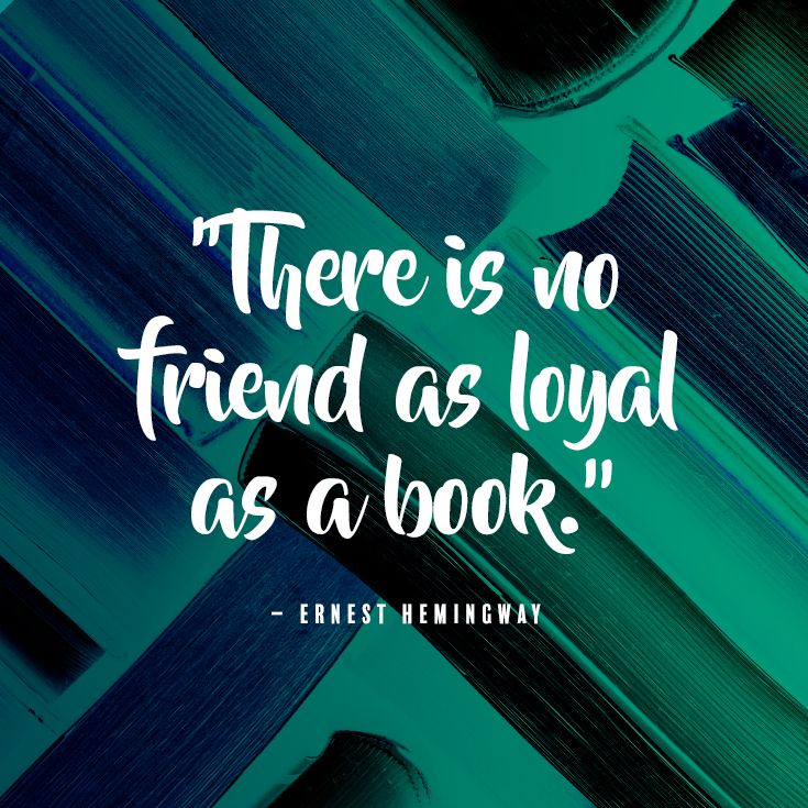 Love this inspirational book quote by Ernest Hemingway. A great quote about reading to frame for adults and for kids.