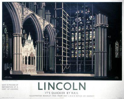 'Lincoln: Angel Choir', LNER poster, 1923-1947.
