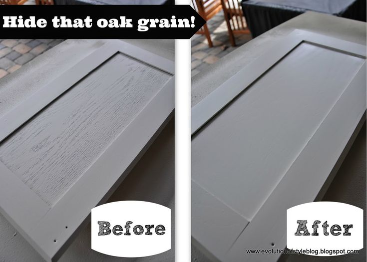 Say Goodbye to Oak Grain, plus links to tutorials for painting cabinets