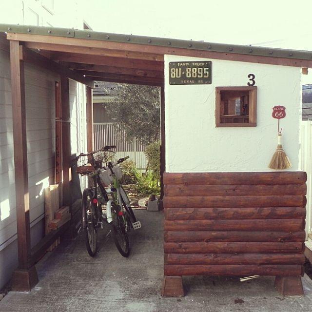 男性で、4LDKの自転車置き場/自転車/自転車小屋/小屋/小屋DIY /手作り…などについてのインテリア実例を紹介。「雑貨を飾れる壁ができたので楽しみです。 きれい目か、少しジャンクにするか迷い中。」(この写真は 2016-02-22 19:23:21 に共有されました)