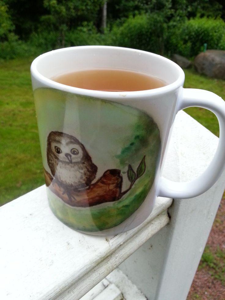 Jennifer Lindroos (@tweetyloop) | Jennloop - my owl on a mug (available at https://society6.com/jennloop )