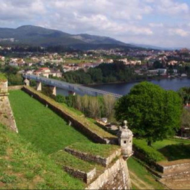 Valenca, Portugal..that's the old bridge we would take to go to Tui, Spain ❤️