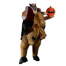 Inflatable Headless Horseman Halloween Fancy Dress Blow Up Party Cosplay Costume