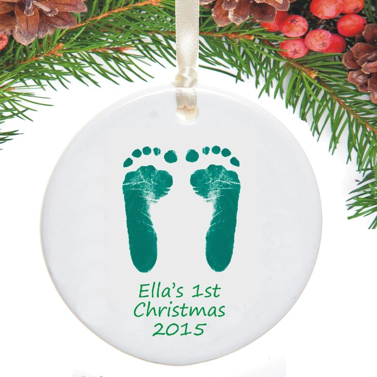 Baby's First Christmas Tree Decoration Displaying Footprints