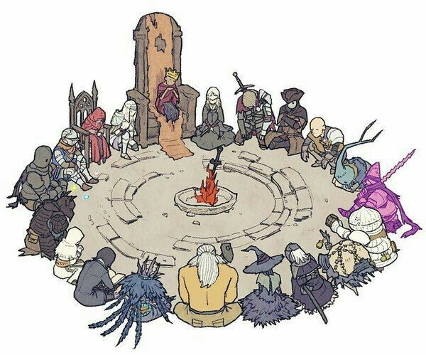 Circulo Dark Souls 3 Arte Dark Souls Arte Com Personagens