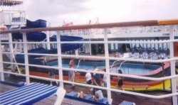 People have been enjoying the 'ammenity' of cruise ship swimming pools for over a century. The main swimming pool is traditionally located on...