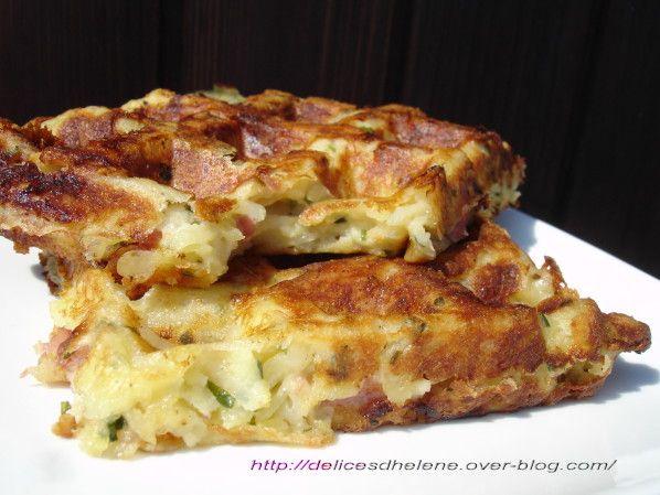 gaufres de pommes de terre-bacon-comté - Tupperware
