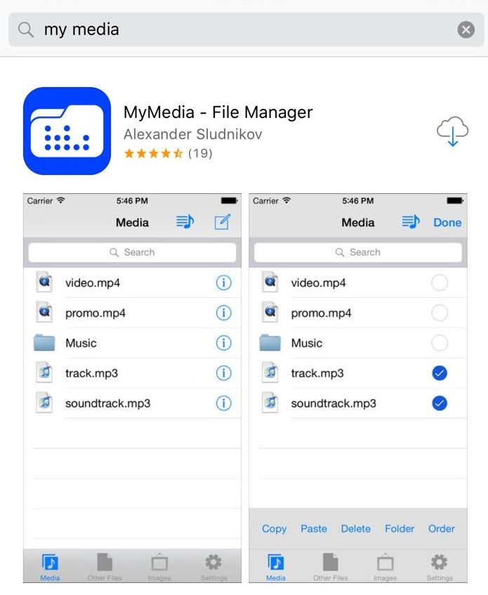 mymedia app download facebook video iphone