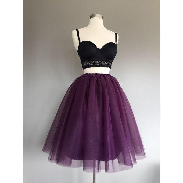Eggplant Tulle Skirt Purple Tutu Adult Womens 70 Liked