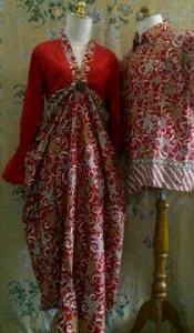 Baju batik sarimbit dada serut merah batik indonesia pinterest