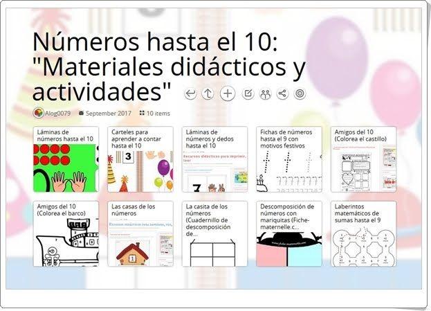 """""""10 Materiales didácticos y actividades para el aprendizaje de LOS NÚMEROS HASTA EL 10"""""""