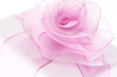 Make a rose with wire edged ribbon