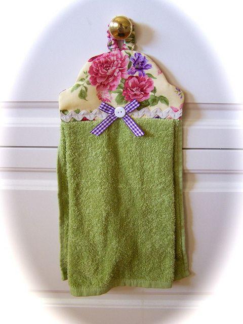 Decorative hand towel  www.createdbycath.com  Flickr - Photo Sharing!