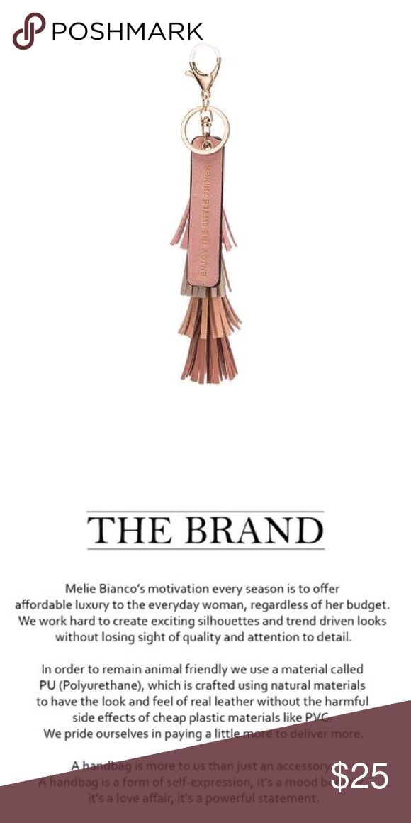 """Melie Bianco Quote Key Ring Melie Bianco Quote Key Ring """"Enjoy the Little Things"""" Blush color. PETA Approved Ethical Vegan Leather Melie Bianco Accessories Key & Card Holders"""
