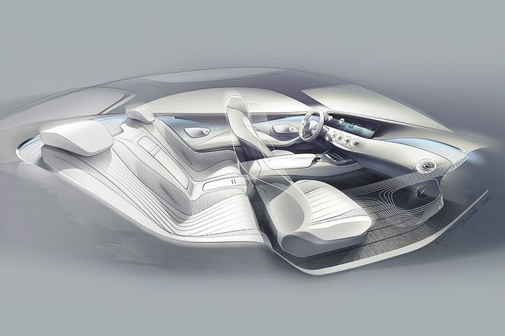 Mercedes-Benz S-Class Coupe Concept Car.   Expected to be released next week at the 2013 Frankfurt Motor Show.