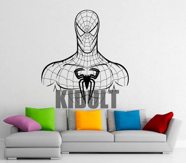 Spiderman Wall Stickers Home Decorations Bedroom Studio Vinyl Wall Decals Personalized Superhero-size Mural Wall Art Multicolor
