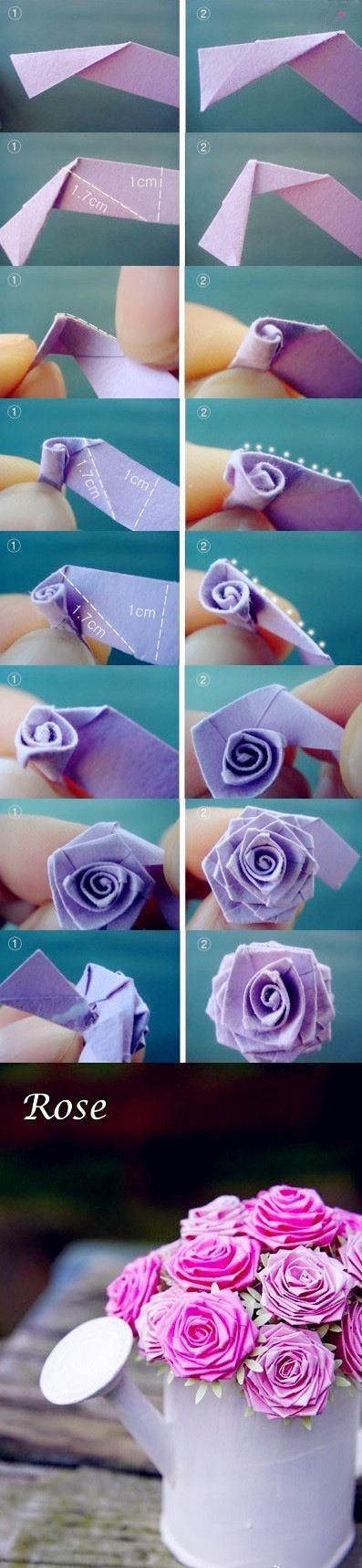 DIY rose from paper