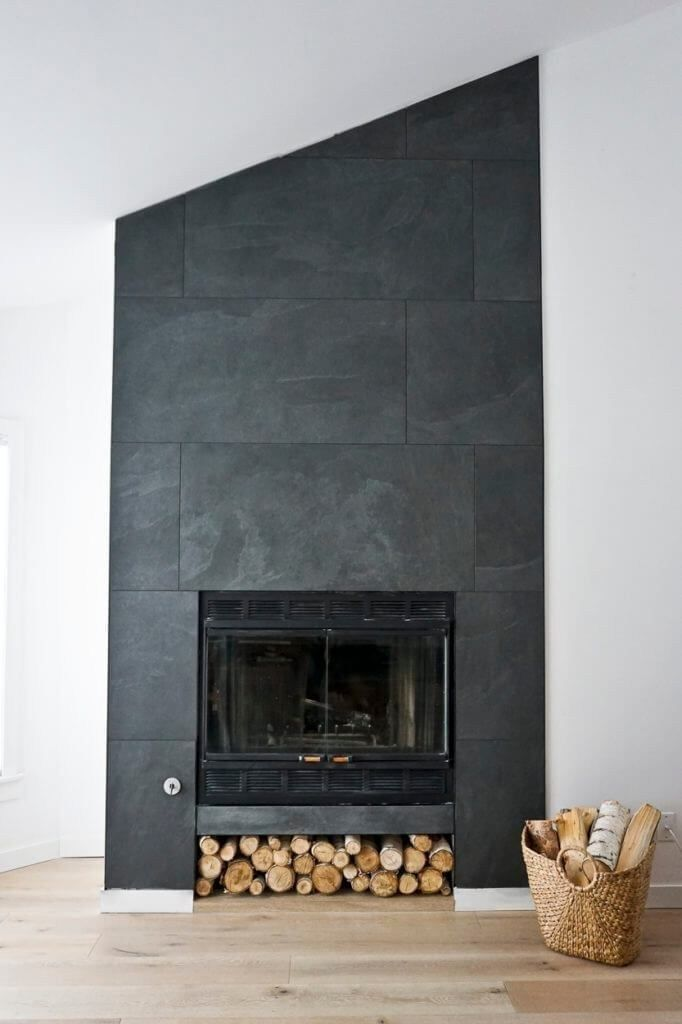 Stylish Fireplace Tile Ideas You Should Try For Your Fireplace 00014 Modern Fireplace Decor Contemporary Fireplace Fireplace Tile